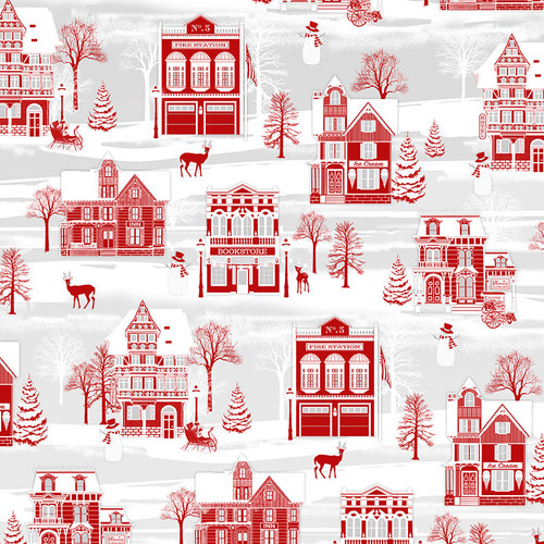 9624-89 Red/Gray || Holiday Lane