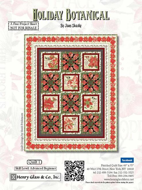 Holiday Botanical Quilt #1