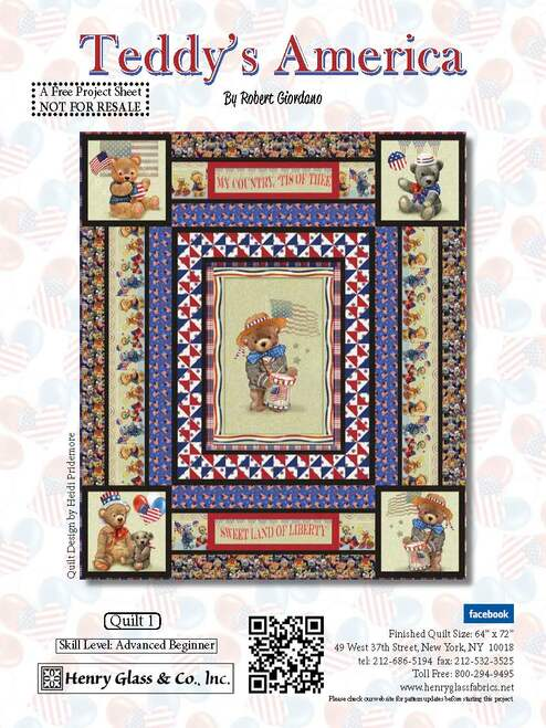 Teddy's American Quilt #1