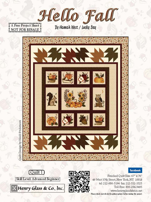 Hello Fall! Quilt #1