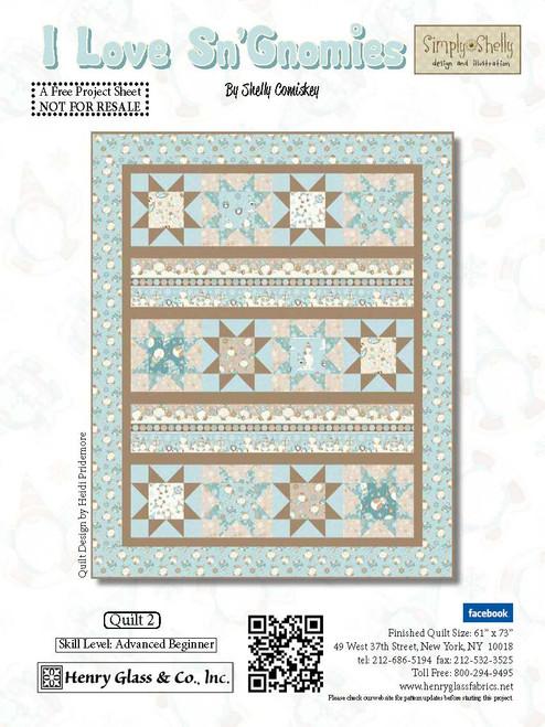 I Love Sn'Gnomies Flannel Quilt #2