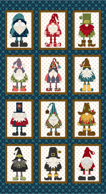 9617P-77 Navy || Gnome for the Holidays