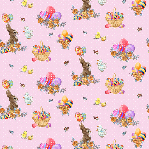 9764-22 Pink || Bunny Tails