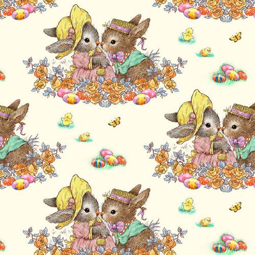 9765-44 Cream    Bunny Tails