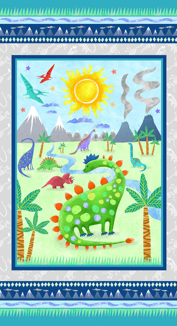 9760P-17 Lt. Teal    Dinosaur Kingdom