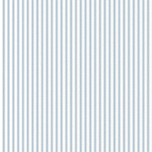 9827-1 White/Blue    Stitching Housewives Stripes