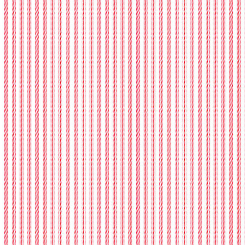 9827-8 White/Red || Stitching Housewives Stripes