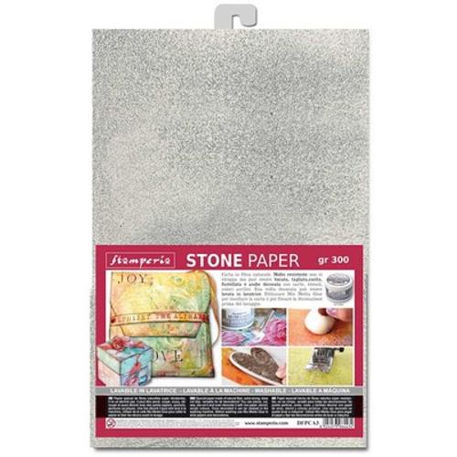 Stamperia: A4 Stone Paper Silver