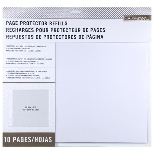American Crafts: 12X12 Page Protectors, 10 Piece