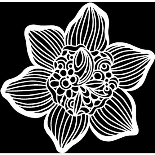 The Crafter's Workshop: Stencil, 6x6,  Cupped Daffodil