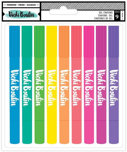 Vicki Boutin: Gel Crayons, Color Study (9 piece)