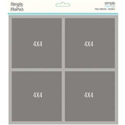 Simple Stories: Simple Pages, Page Template, Design 5