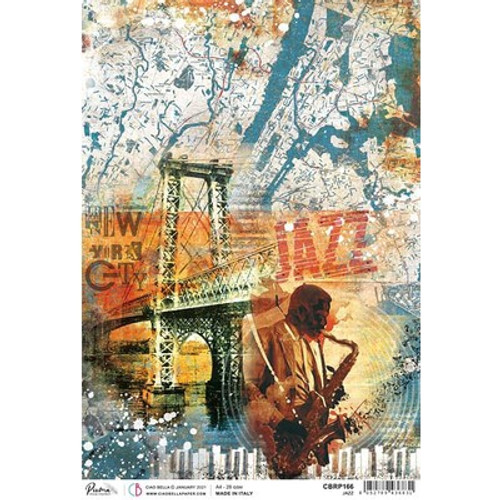 Ciao Bella: A4 Rice Paper,Jazz