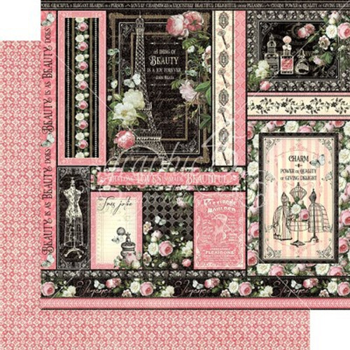 Graphic 45: 12X12 Patterned Paper, Elegance - Delightful