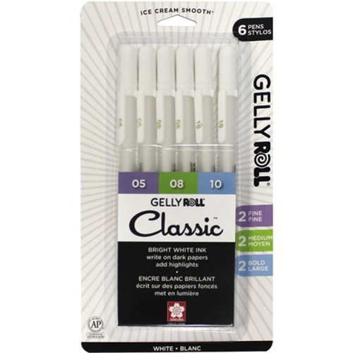 Gelly Roll: Classic Pen Set, White (6 Pack)