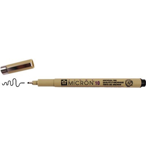 Sakura: Pigma Micron 10 Pen, 0.60mm  - Black