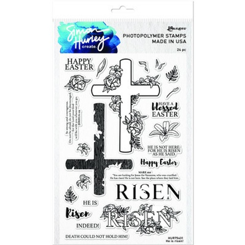Simon Hurley Create: Clear Stamp, He Is Risen!