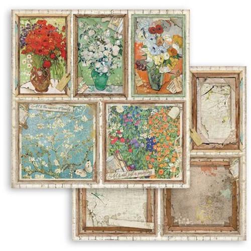 "Stamperia: 12"" x 12"" Patterned Paper, Atelier Des Arcs - Cards"