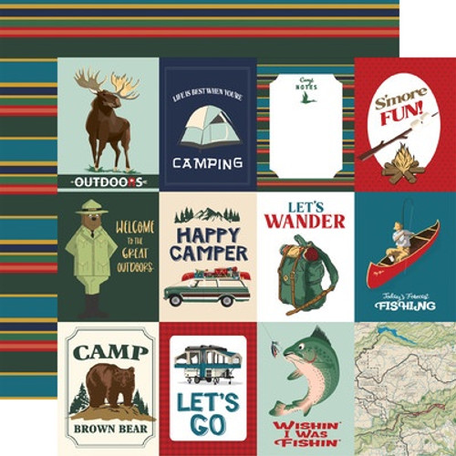 Carta Bella: 12X12 Patterned Paper, Outdoor Adventures - 3x4 Journal Cards