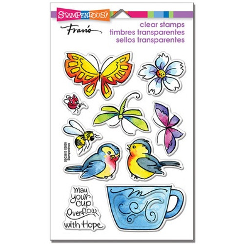 Stampendous: Clear Stamp, Winged Cup