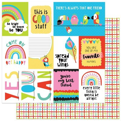 Photo Play Paper: 12X12 Patterned Paper, Birds of a Feather - Good Stuff