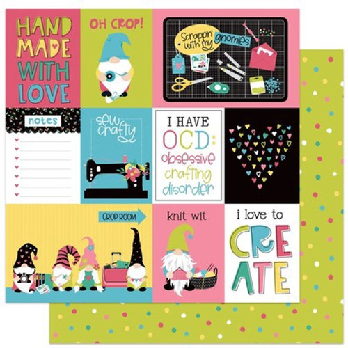 Photo Play Paper: 12X12 Patterned Paper, Crafting With My Gnomies - Oh Crop