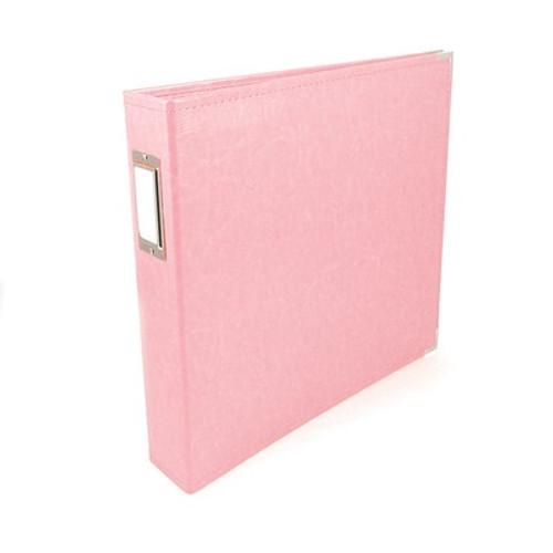 American Crafts: 12x12 Classic Album - Ring, Pretty Pink