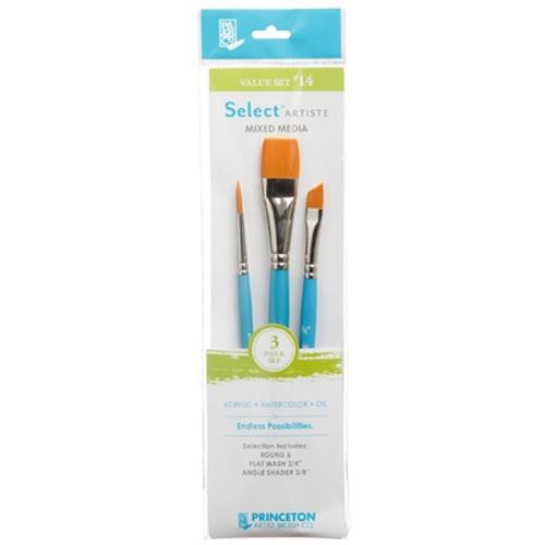Jack Richeson: Select Artiste Short Handle Brush Value Set #14 (3 Piece)