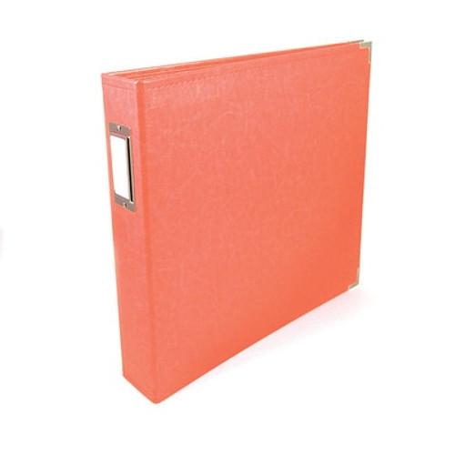 American Crafts: 12x12 Classic Album - Ring, Coral