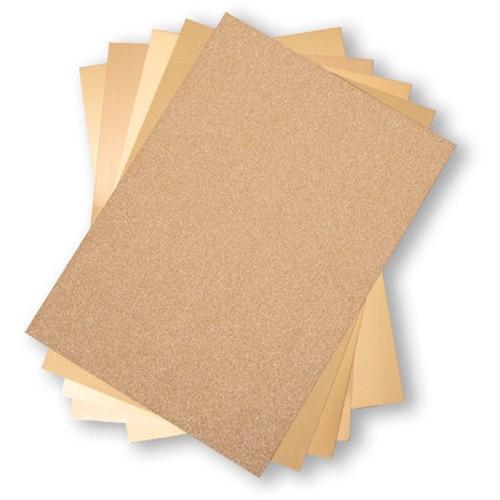 Sizzix: Surfacez 8.5x11 Opulent Cardstock Pack, Gold