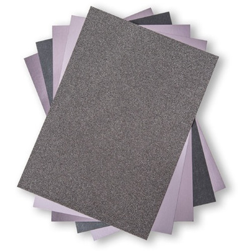 Sizzix: Surfacez 8.5x11 Opulent Cardstock Pack, Charcoal