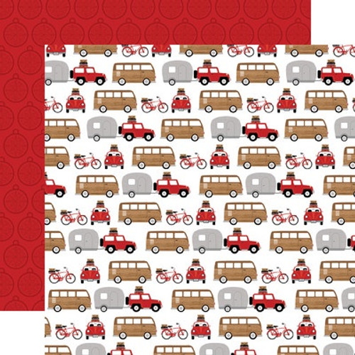 Echo Park : 12X12 Patterned Paper, Let's Go Anywhere - Road Trip