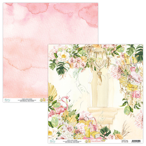Mintay By Karola: 12 x 12 Patterned Paper, Vacation - 03