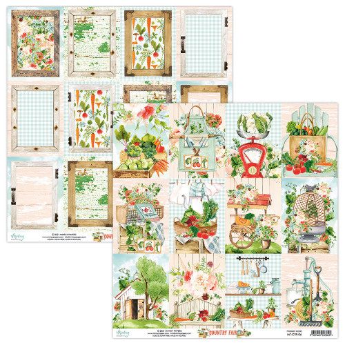 Mintay By Karola: 12 x 12 Patterned Paper, Country Fair - 06