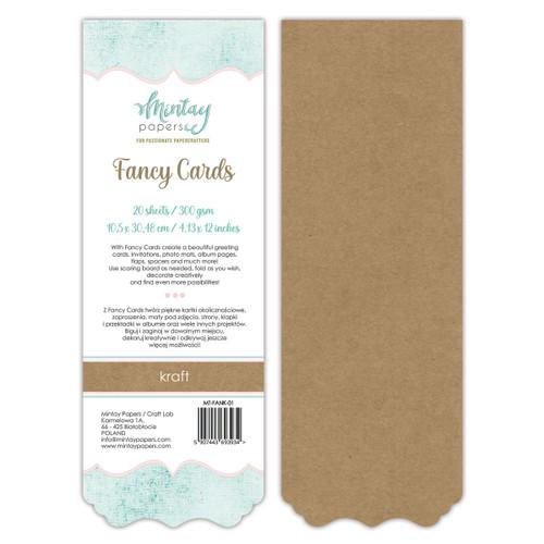 Mintay: Fancy Cards - Kraft 01, 20 Sheets