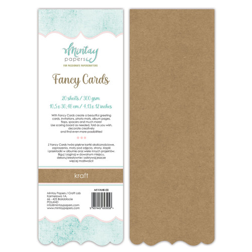 Mintay: Fancy Cards - Kraft 03, 20 Sheets