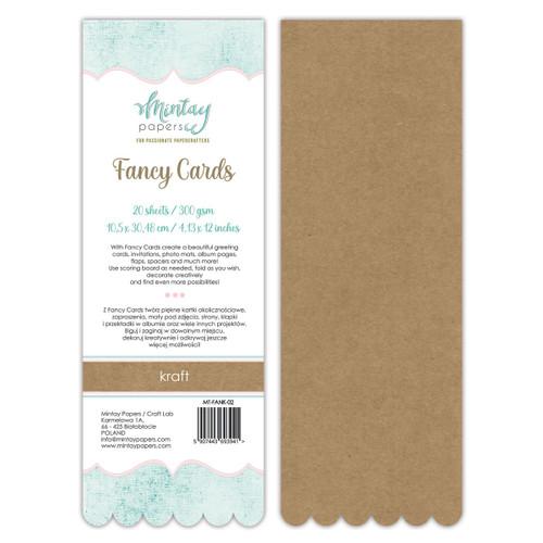Mintay: Fancy Cards - Kraft 02, 20 Sheets
