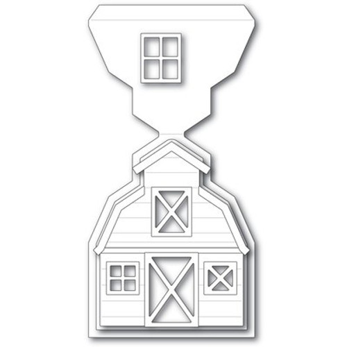 Poppy Stamps: Die, Country Barn Pop-Up Easel Set