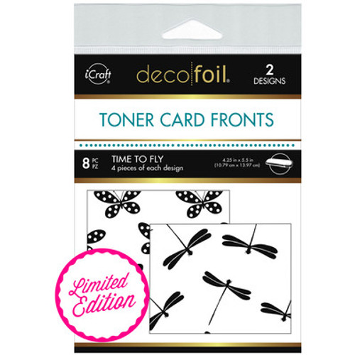 Deco Foil: White Toner Sheets, Time to Fly