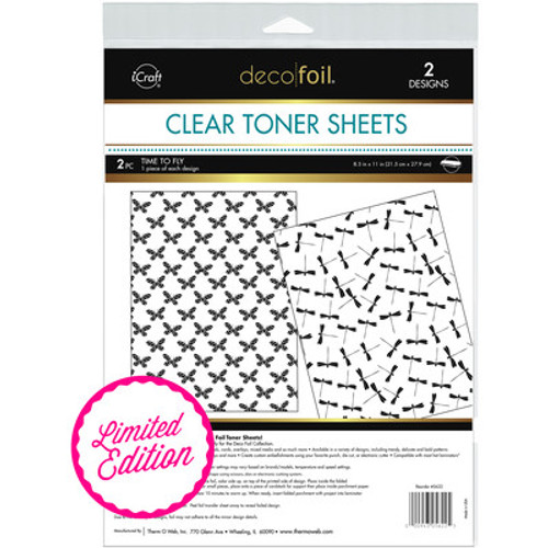 Deco Foil: Clear Toner Sheets, Time to Fly