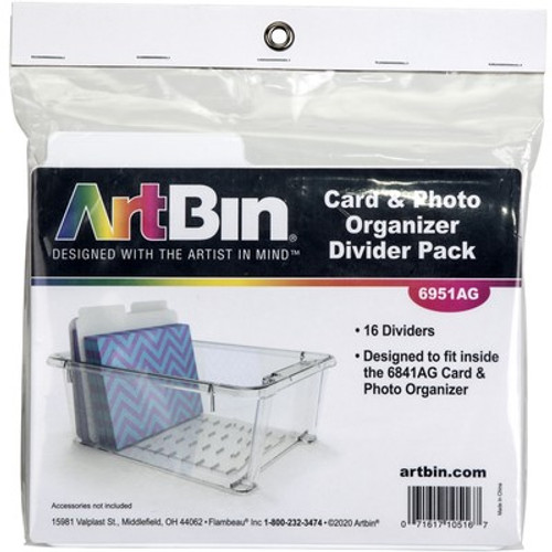 Art Bin: Card And Photo Organizer Box, Dividers