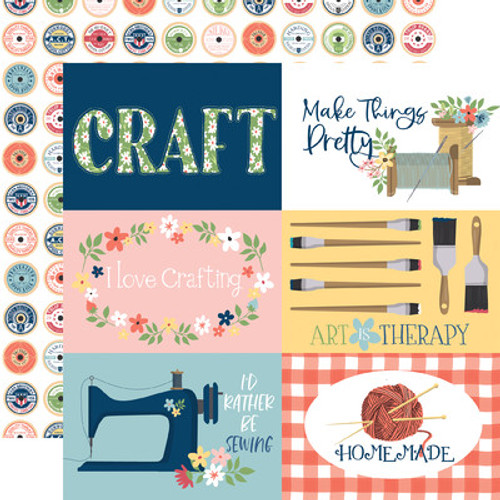 Echo Park : 12X12 Patterned Paper, Craft & Create - 6x4 Journaling Cards