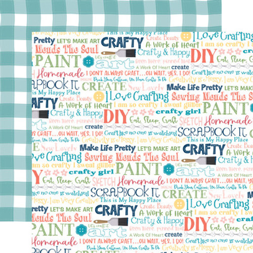 Echo Park : 12X12 Patterned Paper, Craft & Create - Crafty & Happy