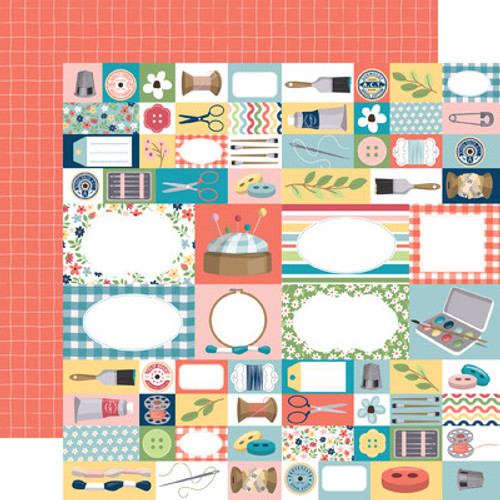 Echo Park : 12X12 Patterned Paper, Craft & Create - Handmade With Love