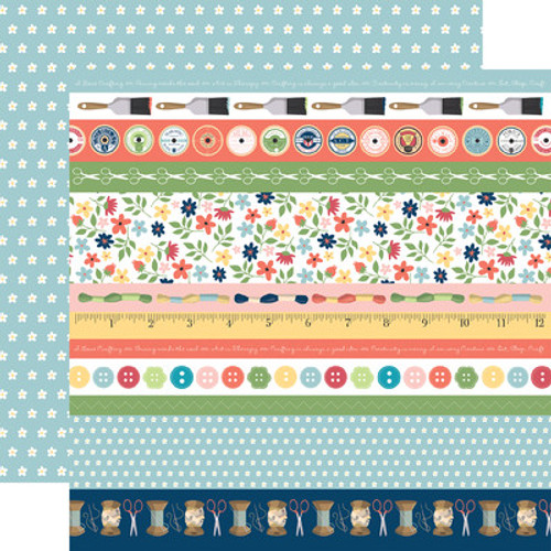 Echo Park : 12X12 Patterned Paper, Craft & Create - Border Strips
