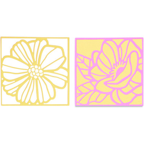 Sizzix: Thinlits Die, Floral Card Fronts