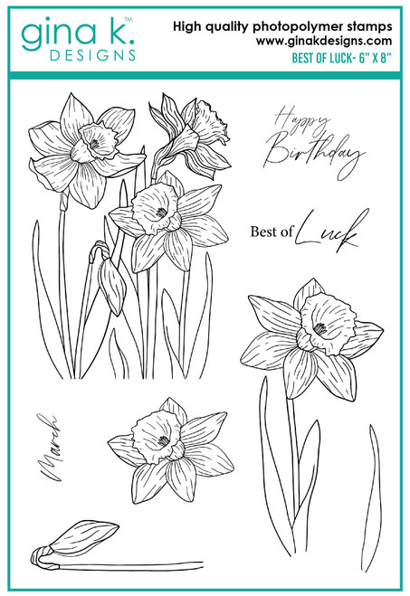 Gina K Designs: Clear Stamp,  Best of Luck