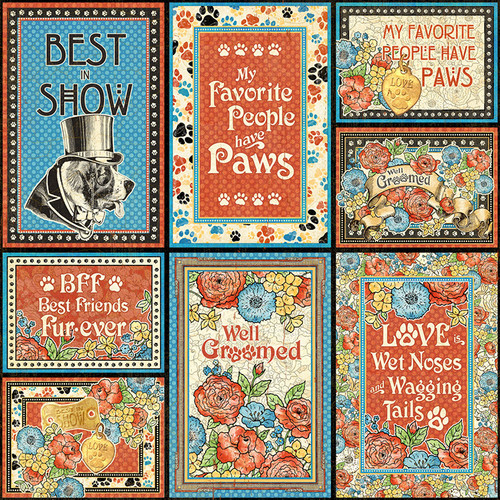 Graphic 45: 12x12 Patterned Paper, Well Groomed - Friends Fur-Ever