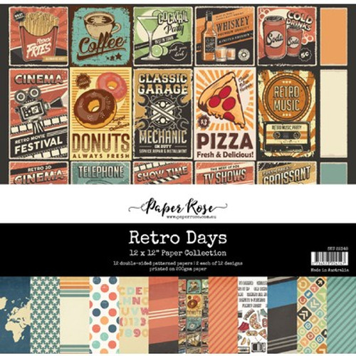 Paper Rose: 12 x 12 Paper Collection, Retro Days