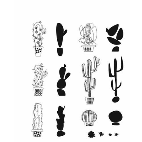 Tim Holtz: Cling Stamp, Mod Cactus